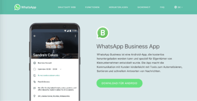 WhatsApp for Business – Umsatztreiber für Facebook?